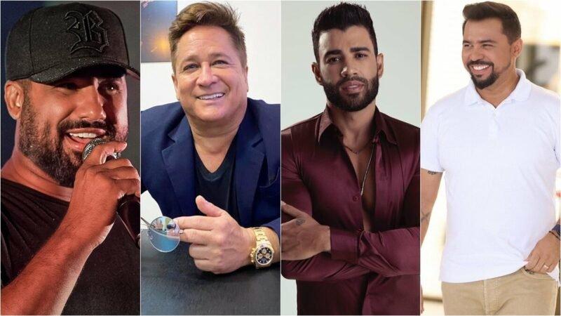 Leonardo, Gusttavo Lima, César Menotti e Fabiano em lives do fim de semana